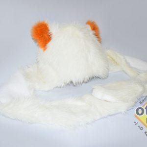 Gorro largo peludo gato