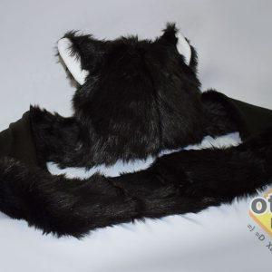 gorro largo gato negro