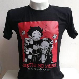 Camiseta nezuko y tanjiro